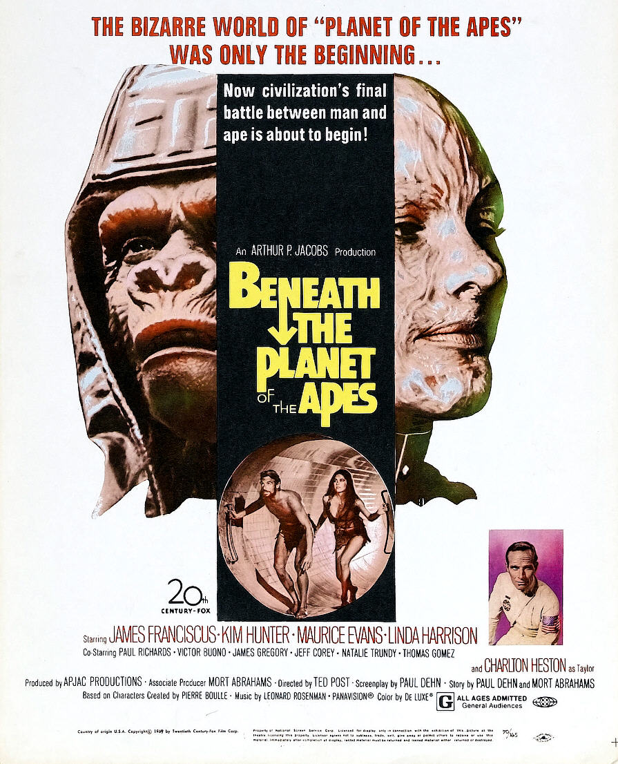 Beneath the Planet of the Apes. (1970)